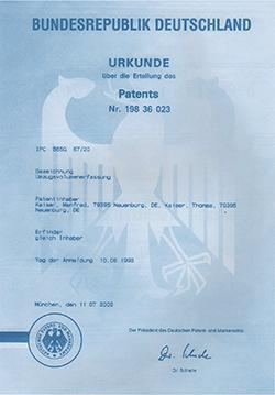 """Patent """"Verfahren zur Ermittlung des Umzugsvolumens"""""""